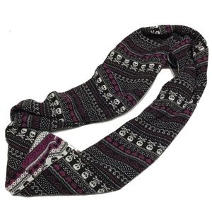 Torrid infinity scarf skull hearts purple goth